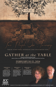 "Sharon Morgan and Tom DeWolf, co-authors of ""Gather at the Table."""