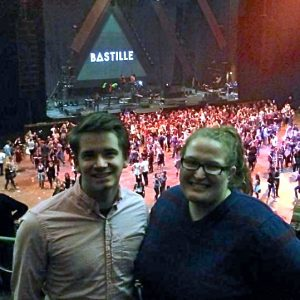 A little blurry, but the Bastille concert in San Francisco this past November.