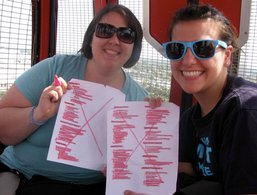 Sara and I after experiencing every single ride and show at Disneyland! We are both goal-setters!