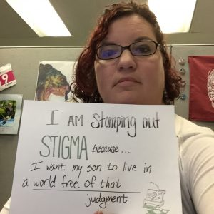 I am stomping out stigma because I want my son to live in a world free of that judgment