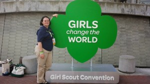 Jessi at the 2014 GSUSA National Convention and Council Session in Salt Lake City, UT.
