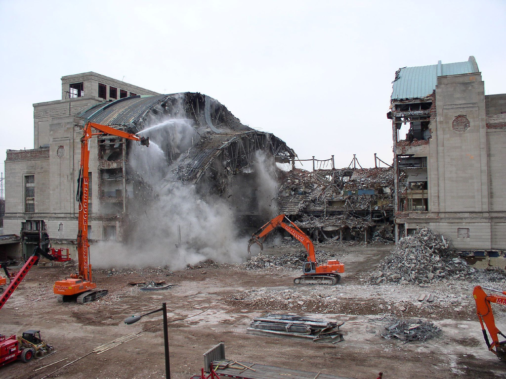 buildings being demolished