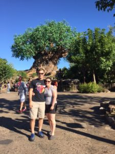 My fiance and I at Animal Kingdom