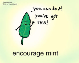 encouragement from an encourage-mint